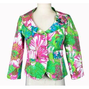Nanette Lepore Floral Cropped Jacket 2
